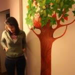drzewo, fresk