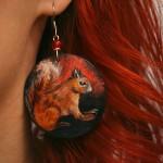 wiewiórka, kolczyki, biżuteria