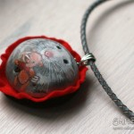 szczur, biżuteria ze szczurem