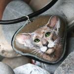 kotka orientalna, naszyjnik z kotem orientalnym