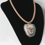 portret szczura, biżuteria ze szczurem