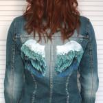 katana malowana ręcznie, katana ze skrzydłami