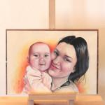 portret malowany z fotografii
