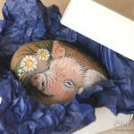 ręcznie malowana świnia