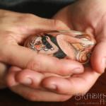 ręcznie malowana wiedźma