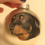 ręcznie malowana bombka z psem