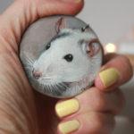 kolczyki ze szczurami